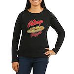 Love Chicago Pizza Women's Long Sleeve Dark T-Shir