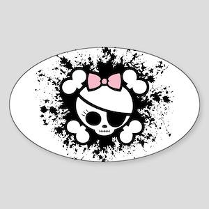 Molly Splat Oval Sticker
