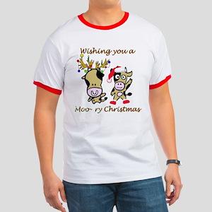 Cow Christmas Ringer T