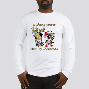 Cow Christmas Long Sleeve T-Shirt