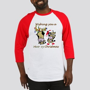 Cow Christmas Baseball Jersey