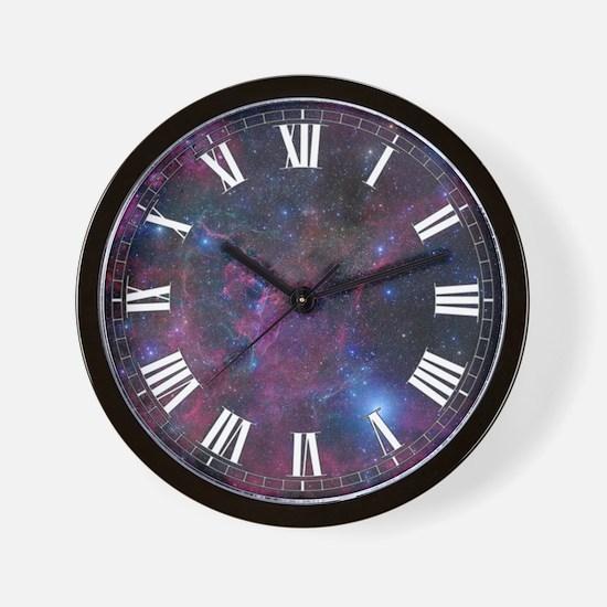 Vela Nebula 1 Wall Clock
