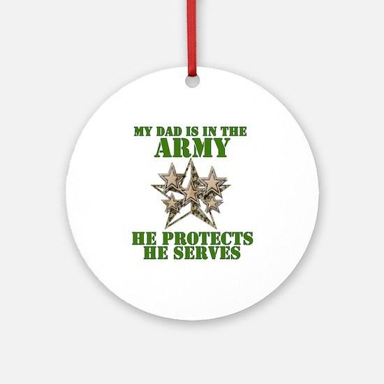 Army Dad Ornament (Round)