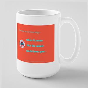 Whole World Loves You Large Mug