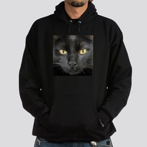 Dangerously Beautiful Black Cat Hoodie (dark)