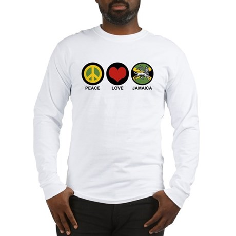Peace Love Jamaica Long Sleeve T-Shirt