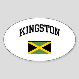 Kingston Jamaica Oval Sticker