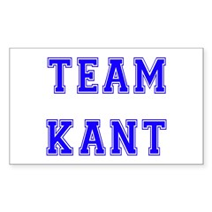 Team Kant Rectangle Decal