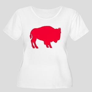 Buffaladies Women's Plus Size Scoop Neck T-Shirt