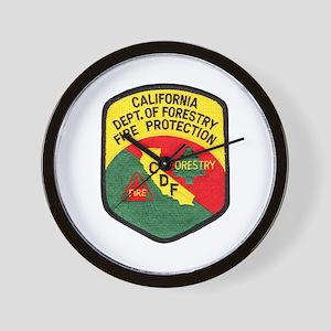 CDF Forestry Fire Wall Clock