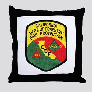 CDF Forestry Fire Throw Pillow