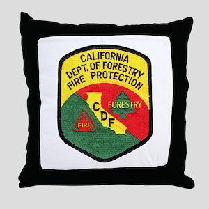 CDF Forestry Fire Throw Pillow