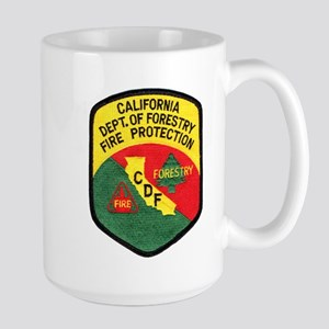 CDF Forestry Fire Large Mug