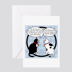 CAT CHAT 2 Greeting Card