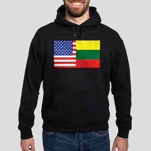 USA/Lithuania Hoodie (dark)