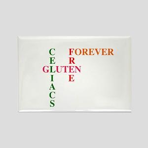 Celiacs Gluten Free Forever Rectangle Magnet