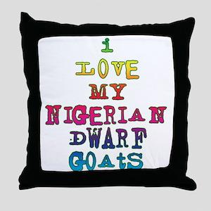 Nigerian Dwarf Throw Pillow