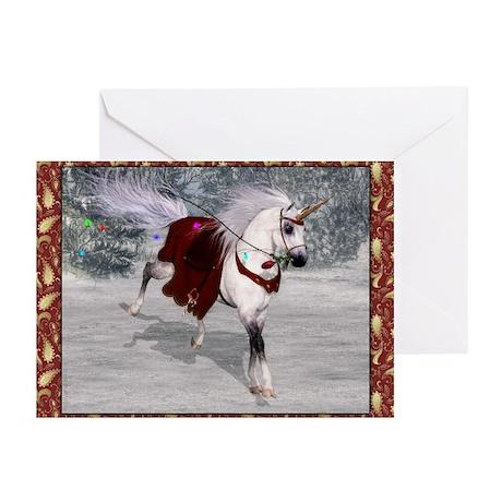 Holiday Unicorn IV Greeting Cards (Pk of 20)