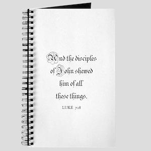LUKE 7:18 Journal