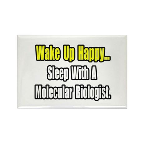 """Sleep w Molecular Biologist"" Rectangle Magnet (10"