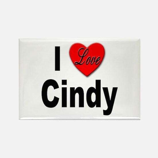 I Love Cindy Rectangle Magnet