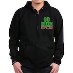 Go Green, Stop at Red Zip Hoodie (dark)