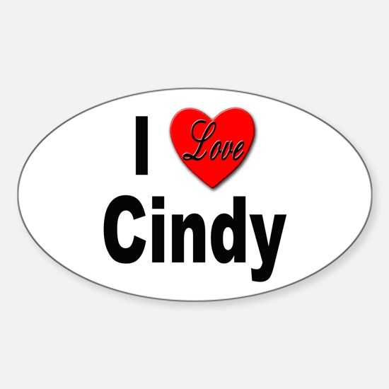 I Love Cindy Oval Decal