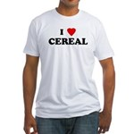 I Love CEREAL Fitted T-Shirt