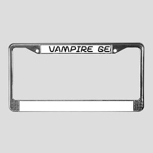 Vampire geek License Plate Frame