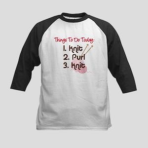 Knitter's To Do List Kids Baseball Jersey