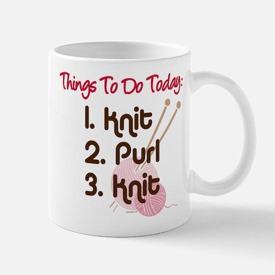 Knitter's To Do List Mug
