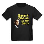 Barack Obama is my hero Kids Dark T-Shirt