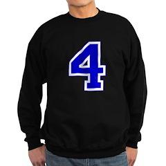 Varsity Font Number 4 Blue Sweatshirt (dark)