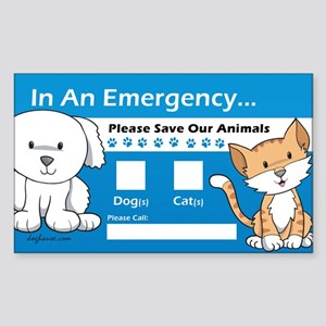 In An Emergency Rectangle Sticker