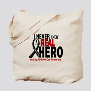 Never Knew A Hero 2 MELANOMA (Sister-In-Law) Tote