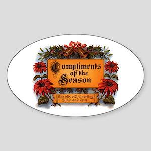 Season Greetings Oval Sticker