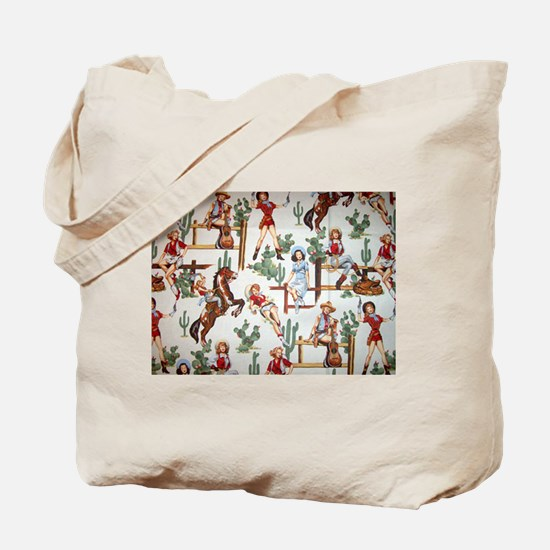 Cowgirl Pin Up Tote Bag