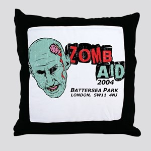 Zombaid Aid Shaun Dead Throw Pillow