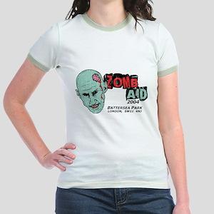Zombaid Aid Shaun Dead Jr. Ringer T-Shirt