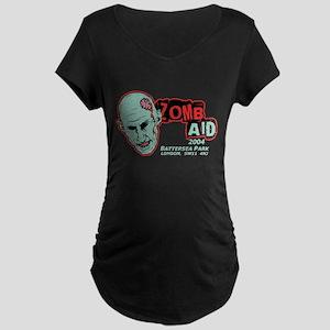 Zombaid Aid Shaun Dead Maternity Dark T-Shirt