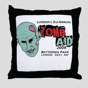ZombAid Shaun Dead Throw Pillow