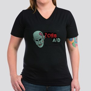 ZombAid Shaun Dead Women's V-Neck Dark T-Shirt