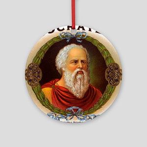 Socrates Philosopher Ornament (Round)