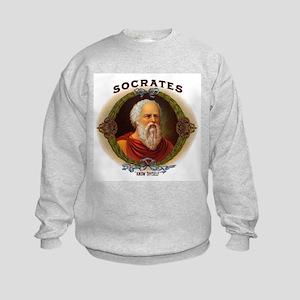 Socrates Philosopher (Front) Kids Sweatshirt
