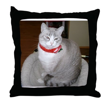 Lucy Kitteh Throw Pillow