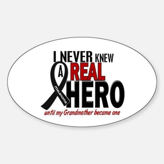 Never Knew A Hero 2 MELANOMA (Grandmother) Decal