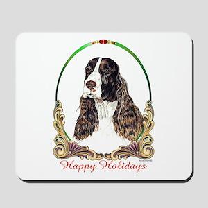Springer Spaniel Holiday Mousepad