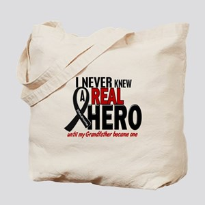 Never Knew A Hero 2 MELANOMA (Grandfather) Tote Ba