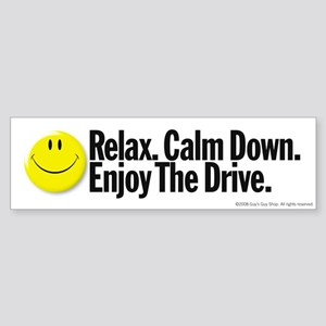 Enjoy The Drive Bumper Sticker
