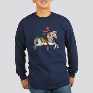 Carousel Horse Long Sleeve Dark T-Shirt